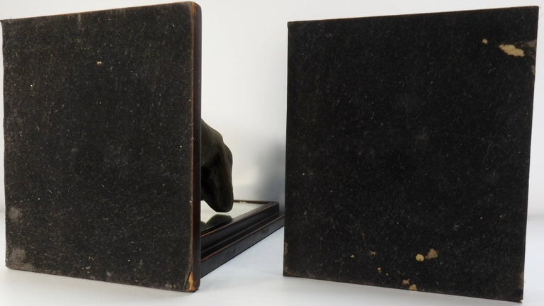 Mid-20th Century Kneeling Men on Wooden Bookends with Mirrors For Sale 2