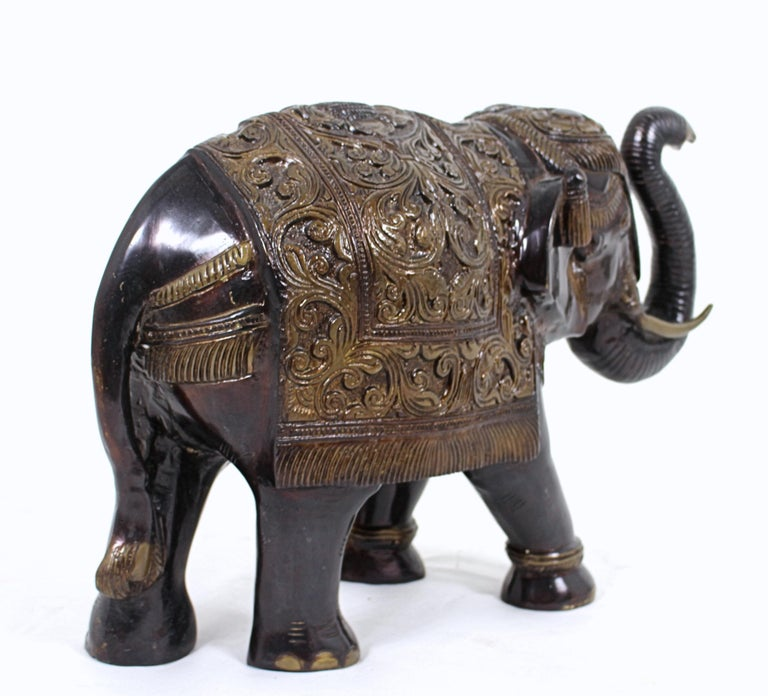 Mid-20th Century Large Indian Bronze Elephant For Sale 4