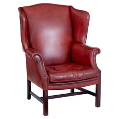 Mid 20th Century Leather Wingback Armchair