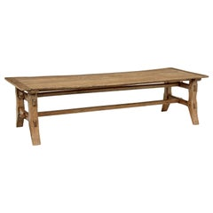 Mid-20th Century Long Coffee Table Made from Reclaimed Timber
