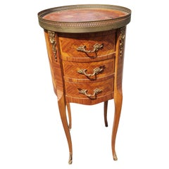 Mid 20th Century Louis XV Marquetry Side Table with Ormolu Gallery
