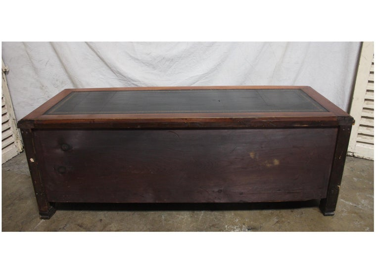 Leather Mid-20th Century Low Table Cabinet For Sale