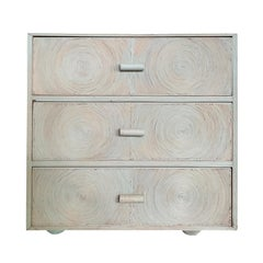 Mid-20th Century Luan Wood Painted Chest, Concentric Circles, circa 1930-1950s