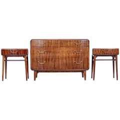 Mid-20th Century Mahogany 3-Piece Bedroom Suite by SMF Bodafors