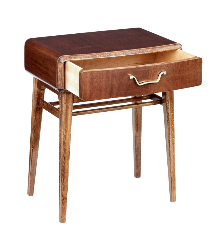 Mid-Century Modern Mid 20th Century Mahogany Bedside Table by Bodafors For Sale