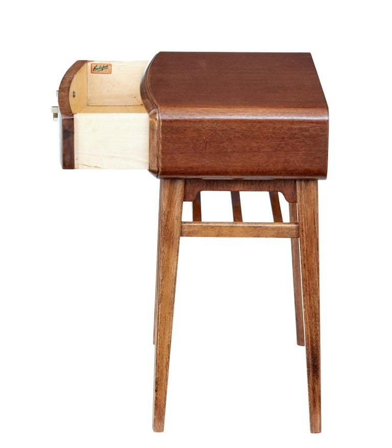 Swedish Mid 20th Century Mahogany Bedside Table by Bodafors For Sale