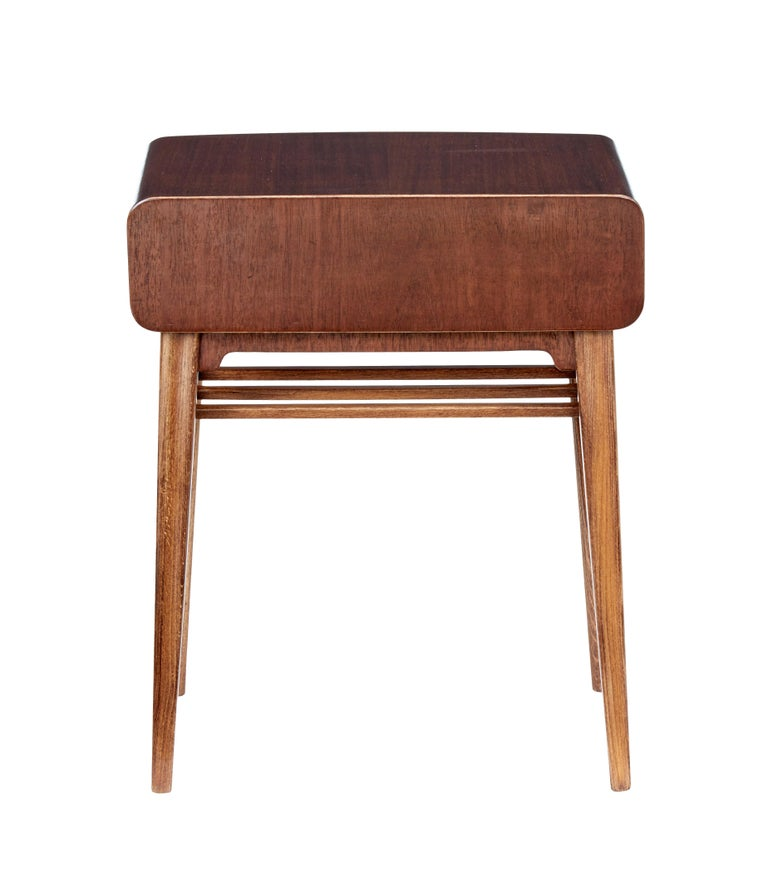 Hand-Crafted Mid 20th Century Mahogany Bedside Table by Bodafors For Sale