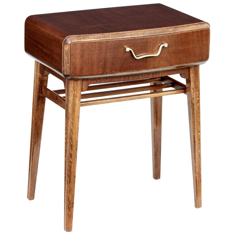 Mid 20th Century Mahogany Bedside Table by Bodafors For Sale