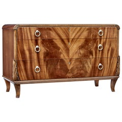 Mid-20th Century Mahogany Chest of Drawers by Bodafors