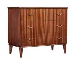 Mid 20th century mahogany Scandinavian chest of drawers