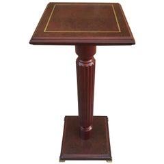 Mid-20th Century Mahogany Wood Square Top Pedestal Table