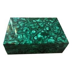 Mid-20th Century Malachite Box