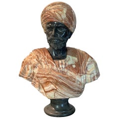 Mid-20th Century Marble Bust of an Arab Sheikh