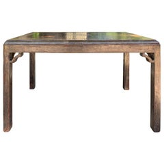 Mid-20th Century Max Kuehne Silver Gilt Leaf Coffee Table