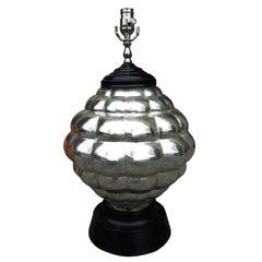 Mid-20th Century Mercury Glass Lamp on Black Base