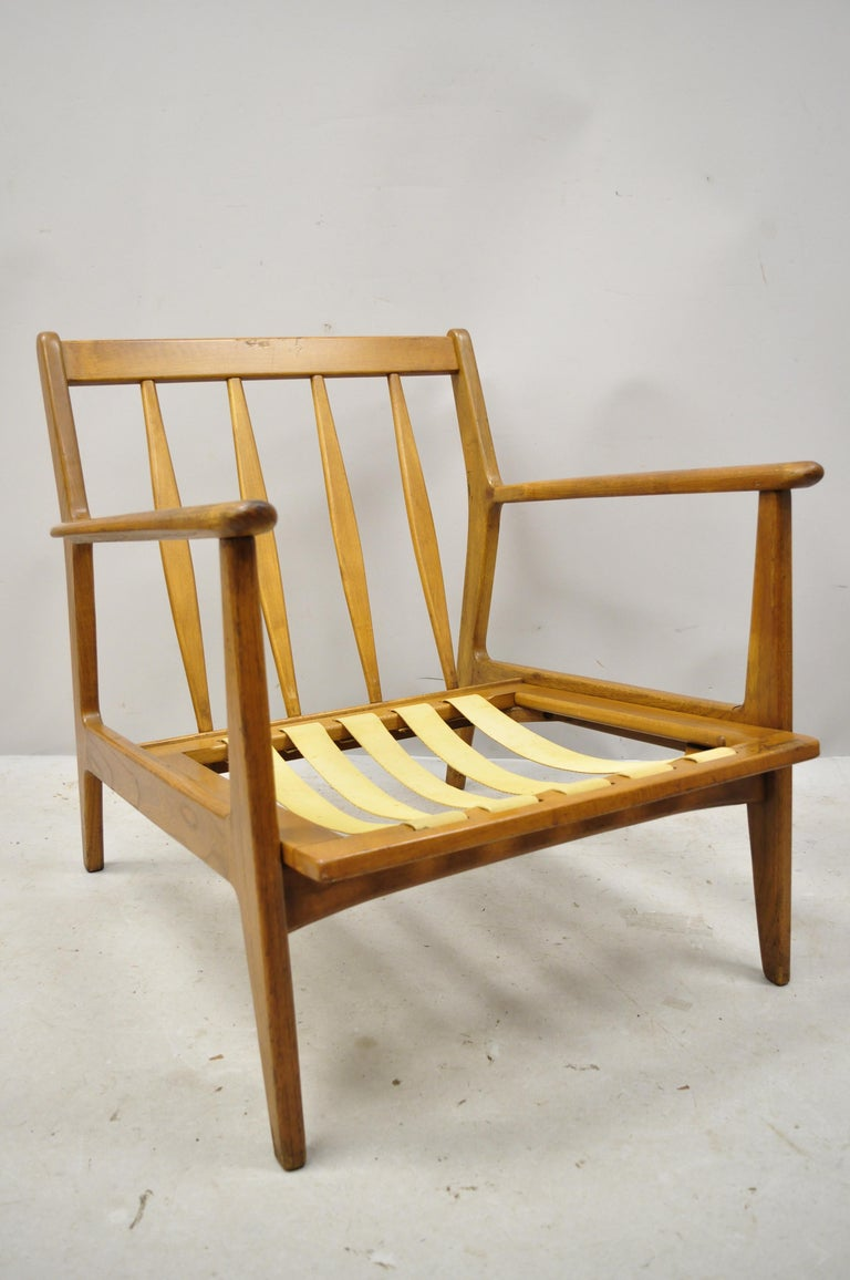 Mid-Century Modern Mid-20th Century Modern Baumritter Walnut Lounge Danish Style Armchair For Sale