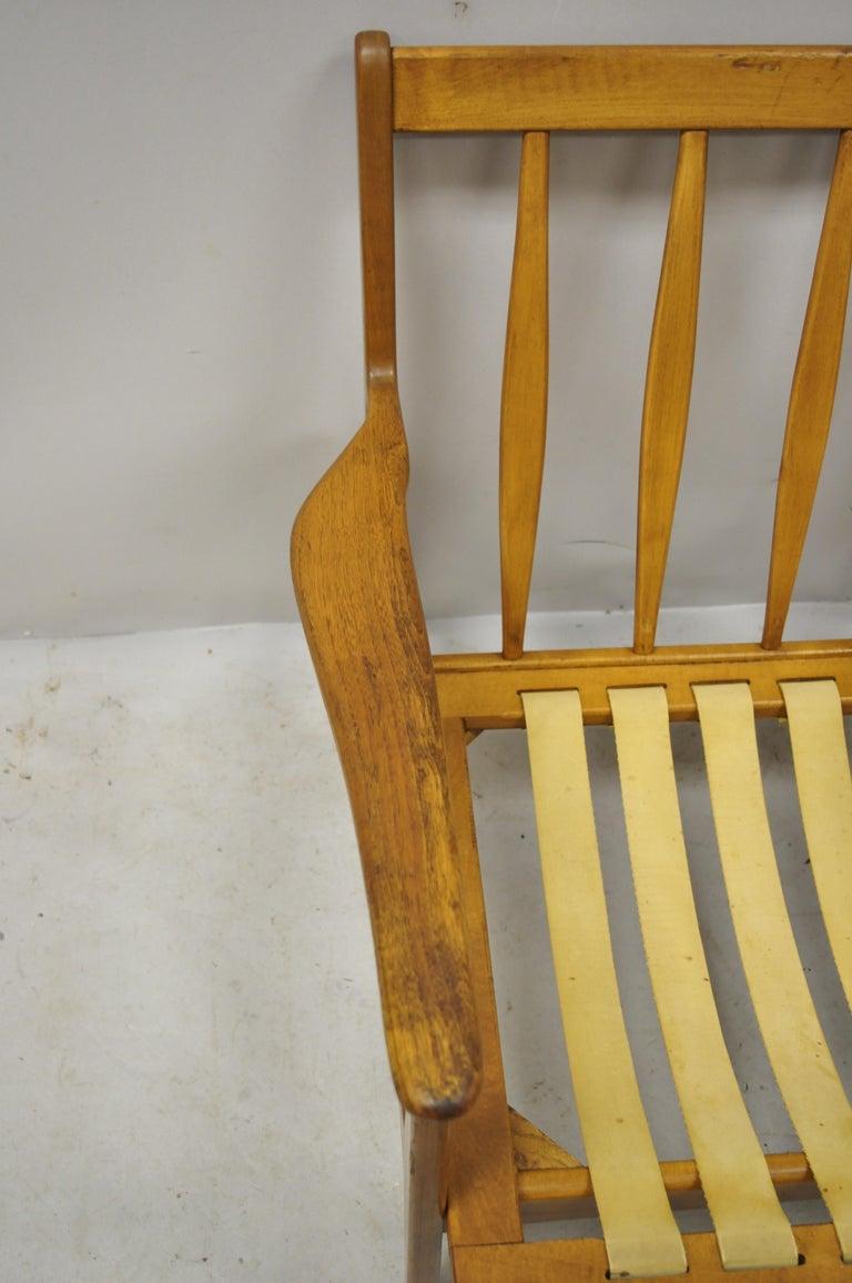 Mid-20th Century Modern Baumritter Walnut Lounge Danish Style Armchair For Sale 3