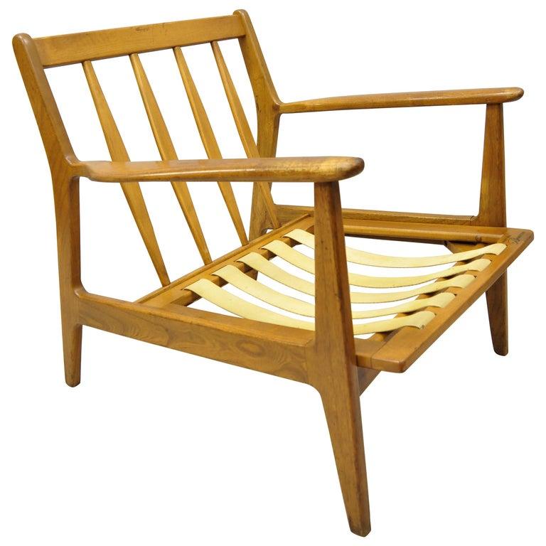 Mid-20th Century Modern Baumritter Walnut Lounge Danish Style Armchair For Sale