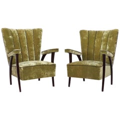 Mid-20th Century Modern Pair of Paolo Buffa Lounge Chairs