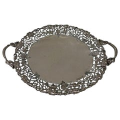 Mid-20th Century Modern Sterling Silver Large Circular Dish/Cake Stand Sheffield
