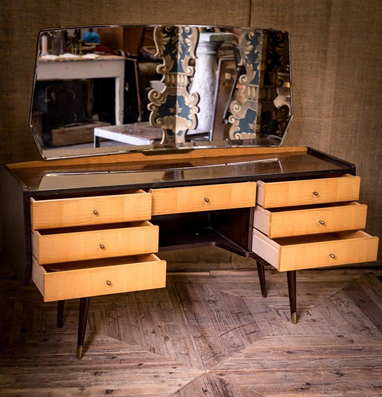 Mid-20th Century Moderne Modern Maple Dressing Table Desk For Sale 5