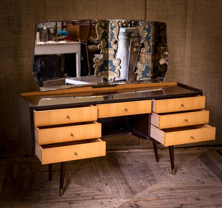 Mid-20th Century Moderne Modern Maple Dressing Table Desk For Sale 6