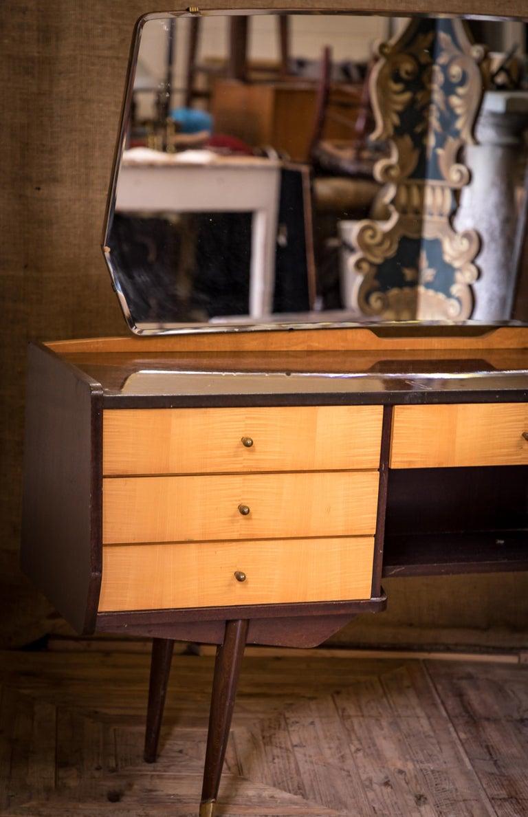 Mid-20th Century Moderne Modern Maple Dressing Table Desk