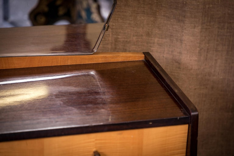 Mid-20th Century Moderne Modern Maple Dressing Table Desk For Sale 2