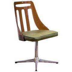 Mid-20th Century Moderne Retro Aluminium and Plastic Office Desk Chair