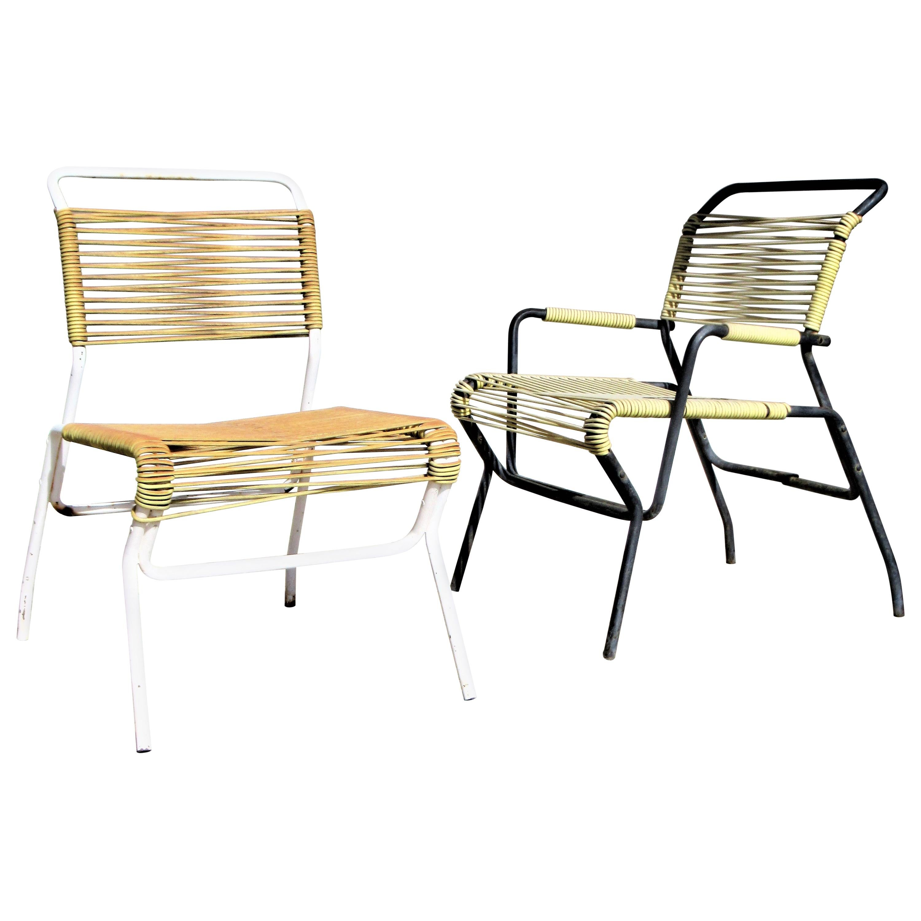 Sculptural Iron Patio Chairs by Surf Line