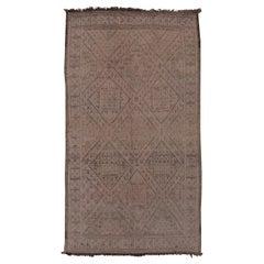 Mid-20th Century Moroccan Middle Atlas Beni Mguild Carpet, Purple Mauve Field