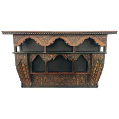 Mid-20th Century Moroccan Wall Shelf or Spice Rack