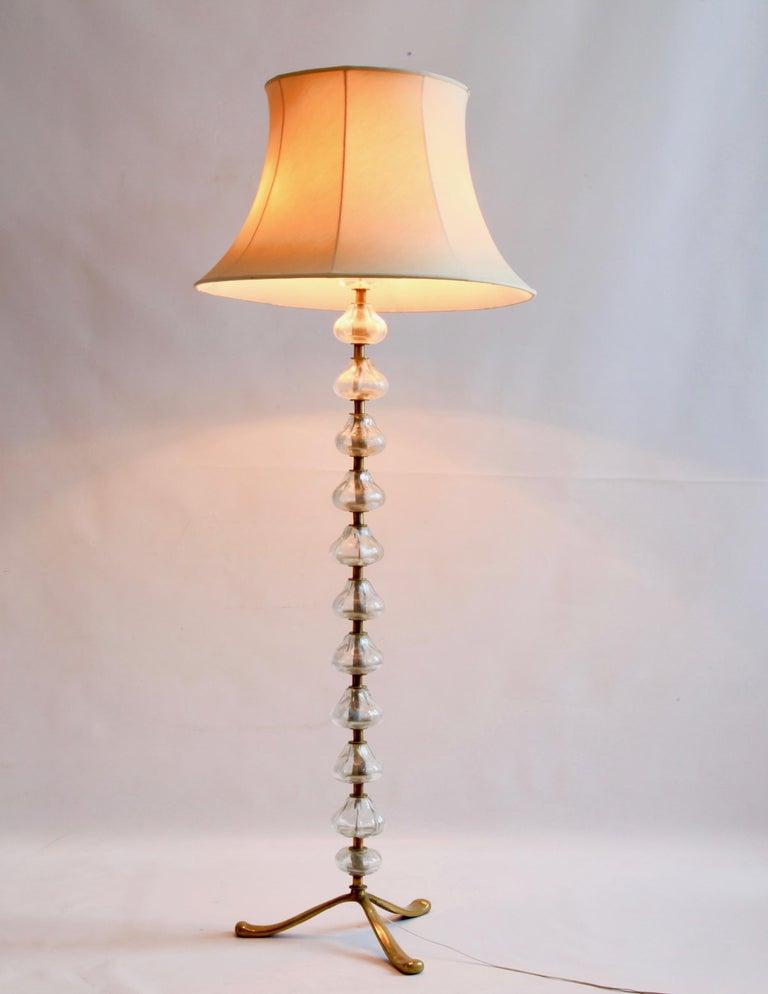 Mid-Century Modern Mid-20th Century Murano Glass Floor Light For Sale
