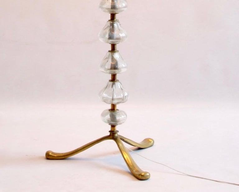 British Mid-20th Century Murano Glass Floor Light For Sale