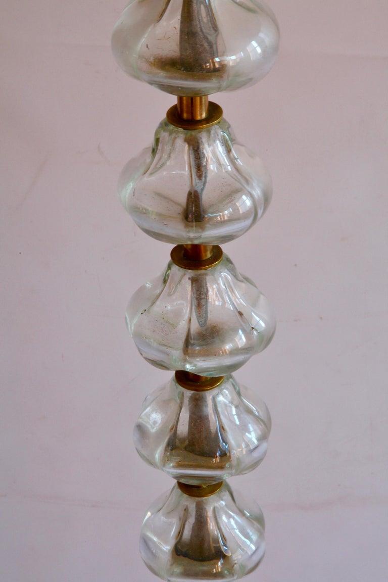 Mid-20th Century Murano Glass Floor Light For Sale 3