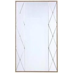 Mid-20th Century Oak Framed Wall Mirror