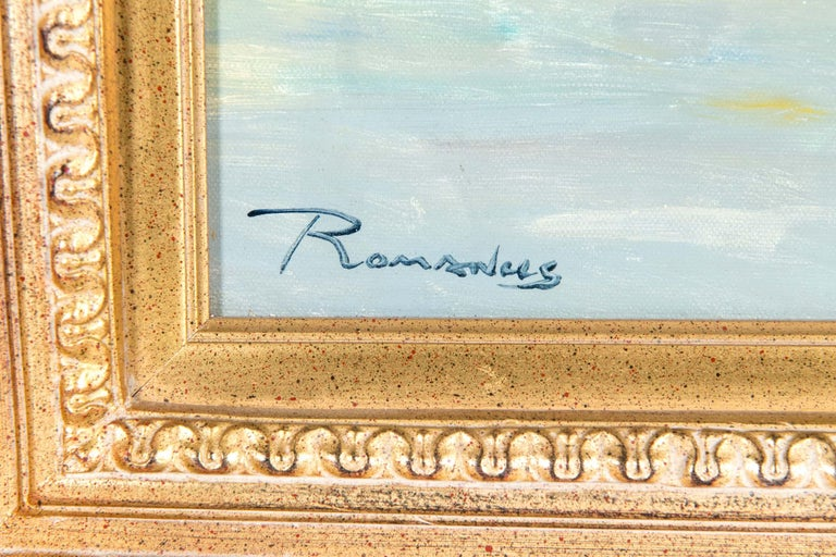 Mid-20th Century Oil On Canvas Painting or Giltwood Frame For Sale 2