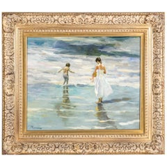 Mid-20th Century Oil On Canvas Painting or Giltwood Frame
