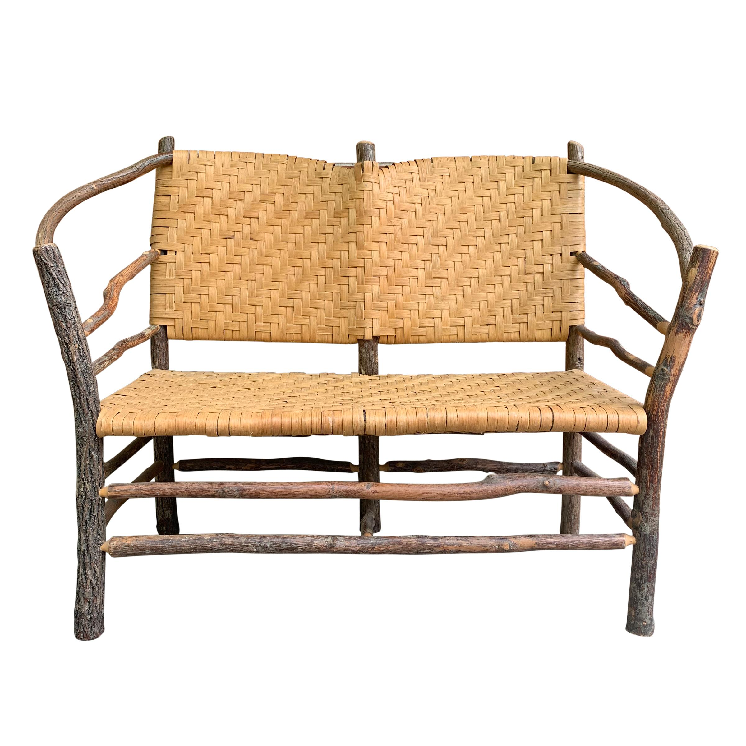 Mid-20th Century Old Hickory Settee
