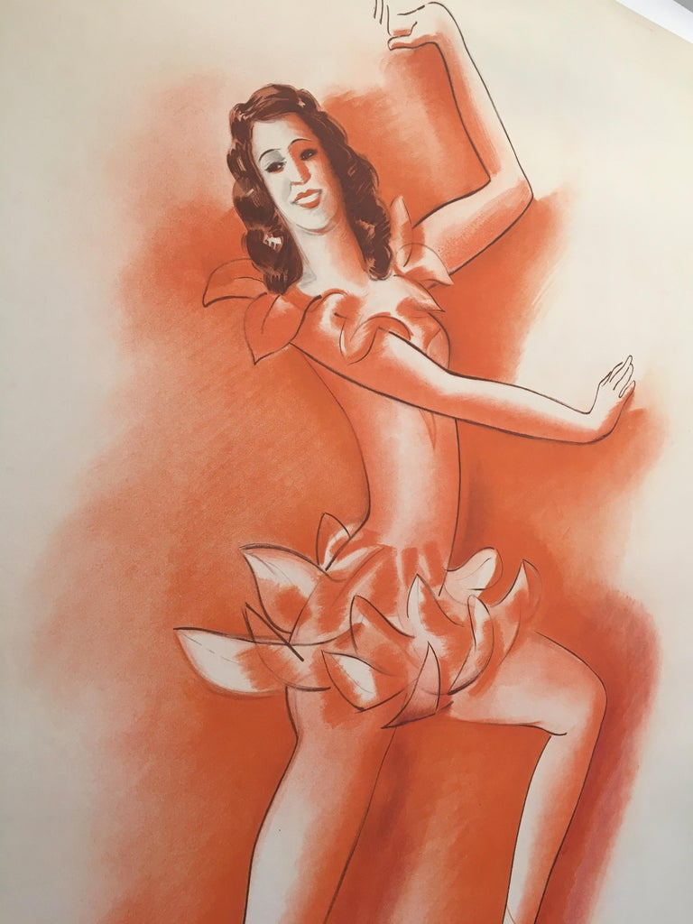 Paper Mid-20th Century Original Vintage French Poster, 'Lyvia Holos' by Jean Colin For Sale