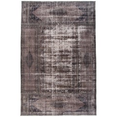 Mid-20th Century Oversize Vintage Overdyed Wool Rug