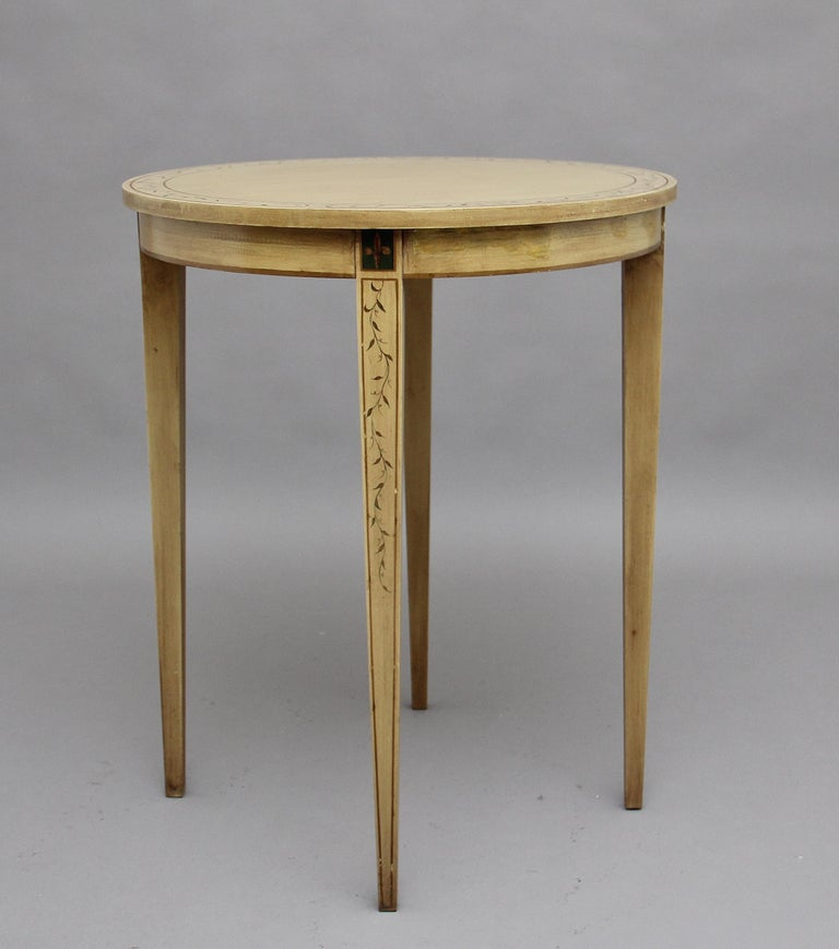Hardwood Mid-20th Century Painted Table For Sale