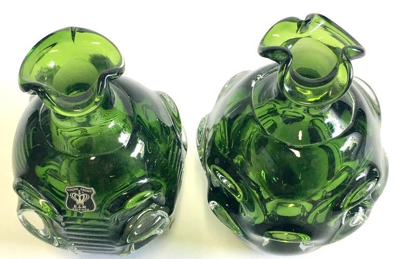 Mid-20th Century Pair of Crystal Swedish Liquor Decanters by Bo Borgstrom-Aseda For Sale 1
