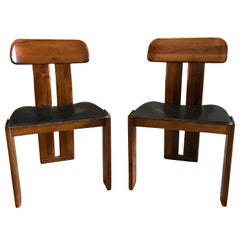 Mid-20th Century Pair of Italian Side Chairs
