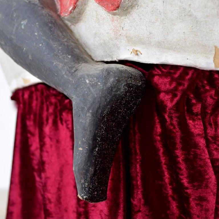 Mid-20th Century Paris Hand Made Papier Mache Theatre Horse Figure For Sale 8