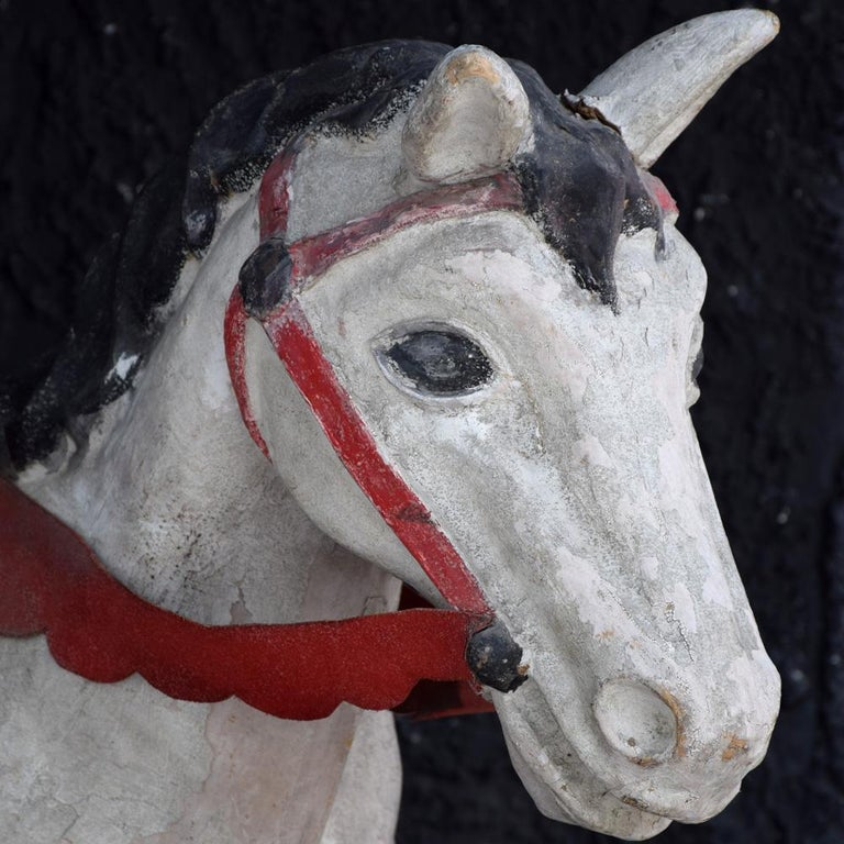 Mid-20th century Papier Mache theatre horse figure We are proud to offer a unique and rare example of a mid-20th century French theatre Papier Mache horse figure. This theatre artefact would have originally been worn by an actor playing the role of