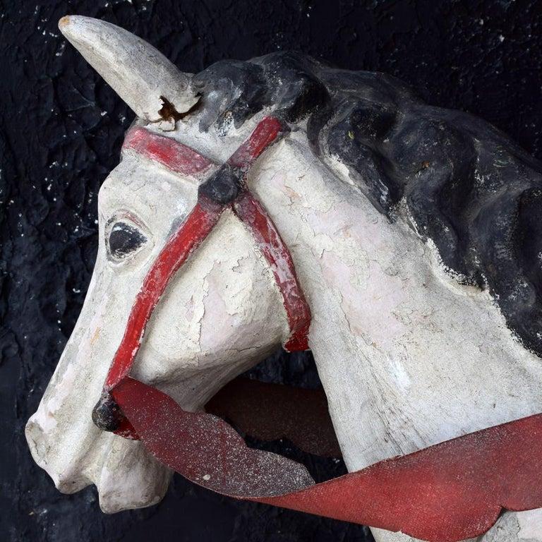 Paper Mid-20th Century Paris Hand Made Papier Mache Theatre Horse Figure For Sale