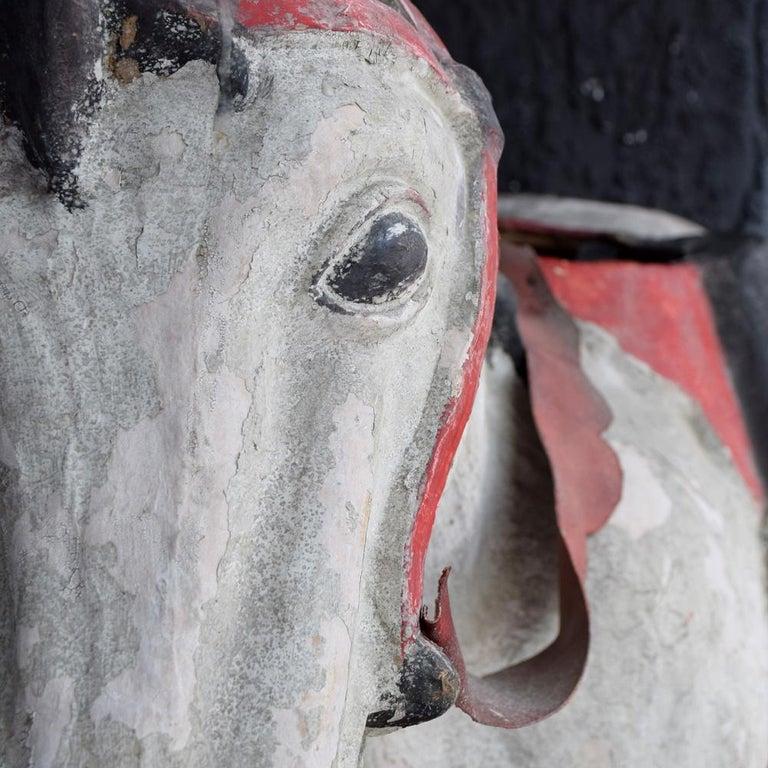 Mid-20th Century Paris Hand Made Papier Mache Theatre Horse Figure For Sale 2