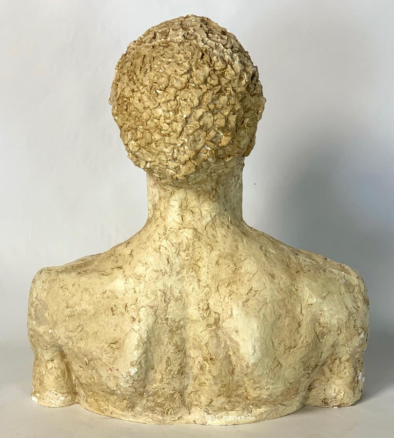American Mid-20th Century Plaster Bust For Sale