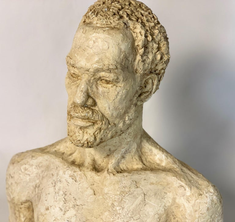 Mid-20th Century Plaster Bust In Good Condition For Sale In Kilmarnock, VA